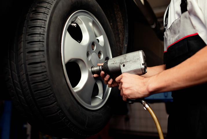 Установка колес и шин